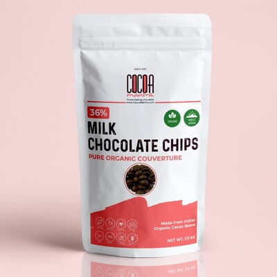 36% Milk Couverture Organic Chocolate Chips